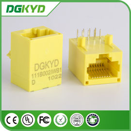 China Base amarela da cor 100 - TX Rj45 Unshielded Jack modular DGKYD111B002IWB1D distribuidor