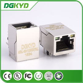 China Conector do pino rj45 de KRJ-SH105GYNL cat5 8 com diodo emissor de luz, 100 BASE - TX distribuidor