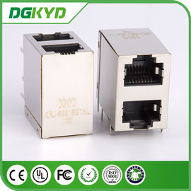 China KRJ -5921S21NL protegeu rj45 o conector, 8 pilha deslocada modular Jack do jaque do pino 2x1 distribuidor