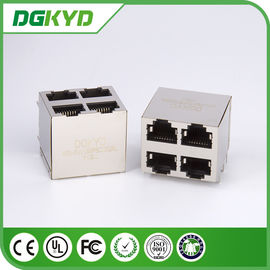 China KRJ -5921S8P8C2X2NL protegeu o Assy 8pos 2x2 Cat5 do Mj da pilha dos ethernet Rj45 Jack distribuidor