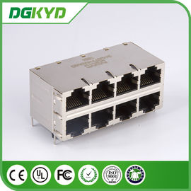China Magnetics de DGKYD24Q077HWA4D RJ45, ethernet rj45 0811-2X4R-28-F do gigabit de 2X4 RoHS distribuidor