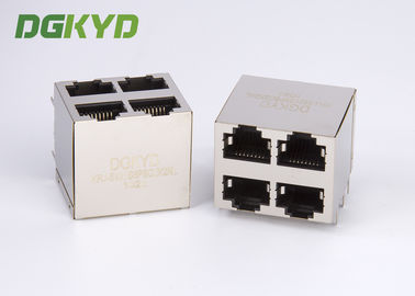 China KRJ-5921S8P8C2X2NL protegeu o Assy 8pos 2x2 Cat5 do Mj da pilha dos ethernet Rj45 Jack distribuidor